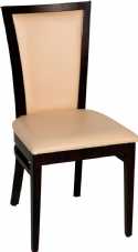 Capital/Kim Wooden Side Chair with Upholstered Seat & Back in Dark Walnut & Cream